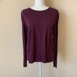 Eileen Fisher 100% silk long sleeve top #965